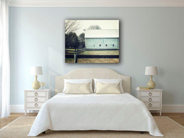 Lisa Russo Fine Art Farmhouse and Rustic Decor Aqua Barn No. 2