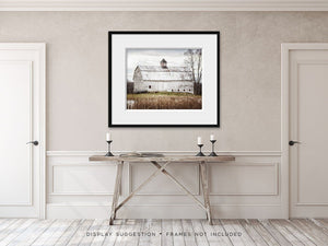 Lisa Russo Fine Art Farmhouse and Rustic Decor Autumn Pond Barn
