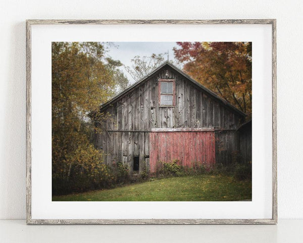 Lisa Russo Fine Art Farmhouse and Rustic Decor Barn with the Red Door <br>Rustic Farmhouse Wall Art