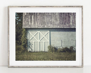 Lisa Russo Fine Art Farmhouse and Rustic Decor Charlton Girls' School Barn <br>Teal Farmhouse Wall Art