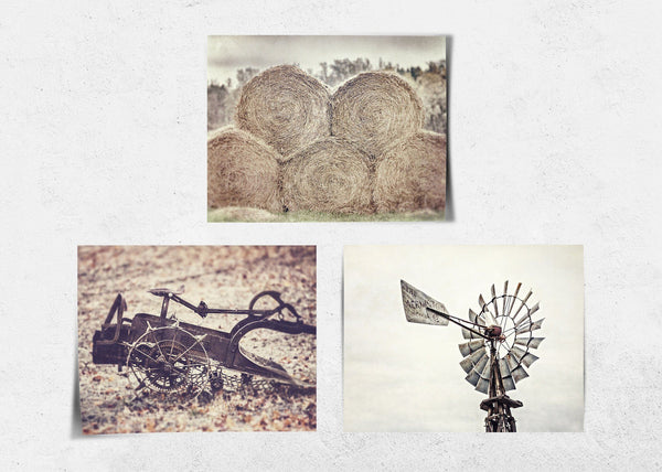Lisa Russo Fine Art Farmhouse and Rustic Decor Farmhouse Scenes • Set of 3