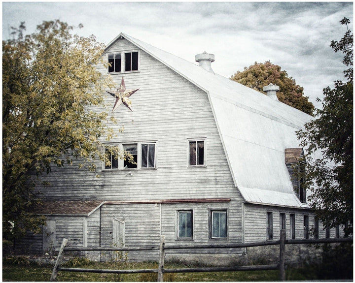 Lisa Russo Fine Art Farmhouse and Rustic Decor Gold Star Barn