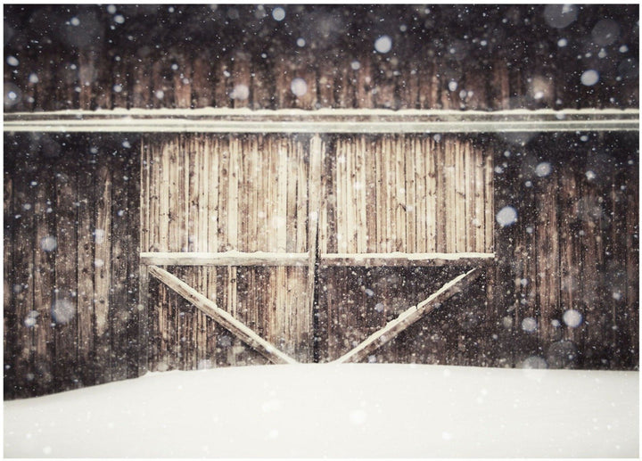 Lisa Russo Fine Art Farmhouse and Rustic Decor Heart Barn in the Snow