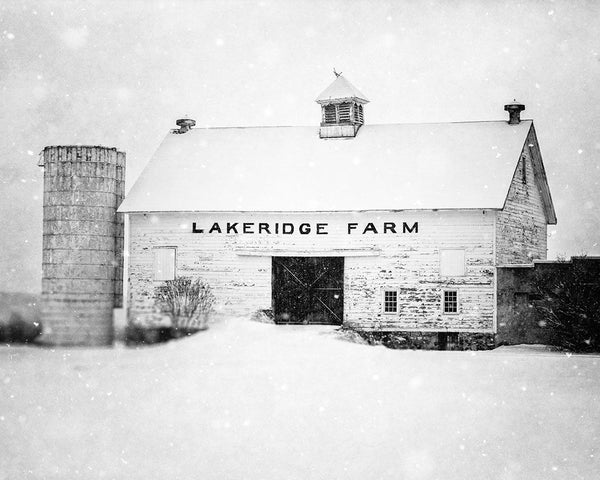 Lisa Russo Fine Art Farmhouse and Rustic Decor Lakeridge Farm in the Winter