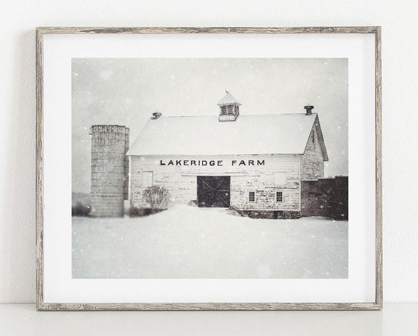 Lisa Russo Fine Art Farmhouse and Rustic Decor Lakeridge in the Winter <br>Farmhouse Wall Decoration