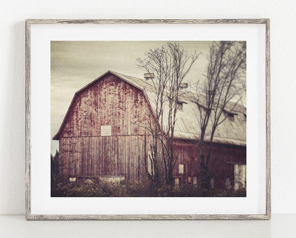Lisa Russo Fine Art Farmhouse and Rustic Decor Left Behind <br>Country Decor Barn Landscape