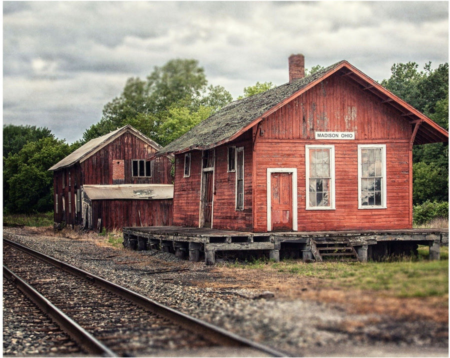 Lisa Russo Fine Art Farmhouse and Rustic Decor Madison Ohio 1882 Train Depot
