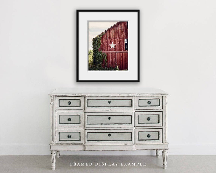 Lisa Russo Fine Art Farmhouse and Rustic Decor Red Star Barn