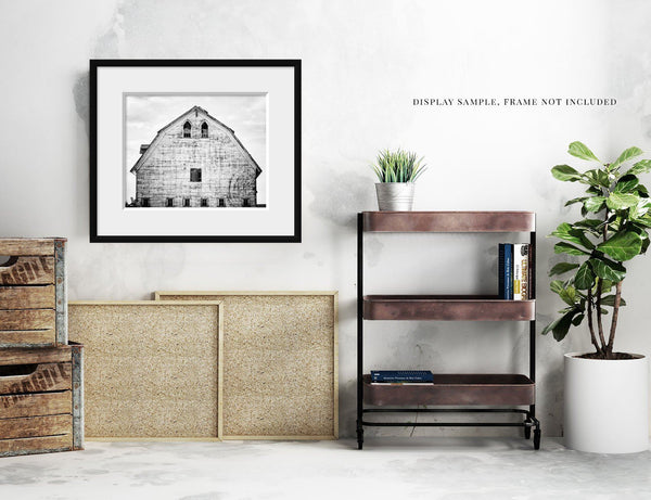 Lisa Russo Fine Art Farmhouse and Rustic Decor Sandford Barn in Black and White