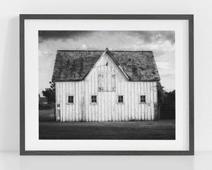 Lisa Russo Fine Art Farmhouse and Rustic Decor Sandford Stud Barn <br>Black and White Farmhouse Decor