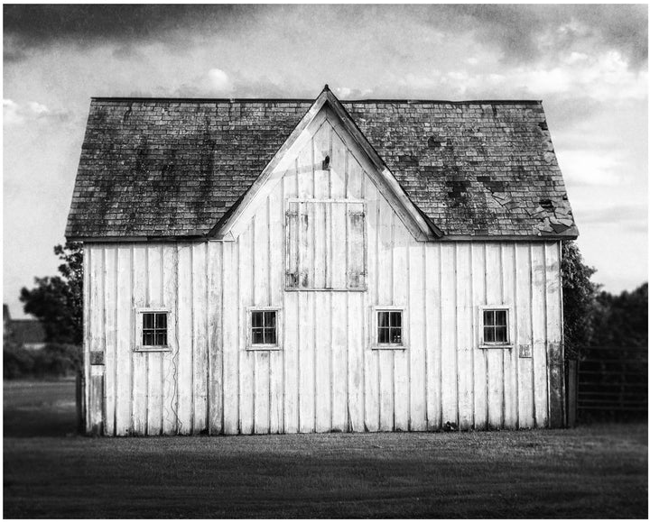 Lisa Russo Fine Art Farmhouse and Rustic Decor Sandford Stud Barn in Black & White