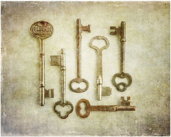 Lisa Russo Fine Art Farmhouse and Rustic Decor Skeleton Keys