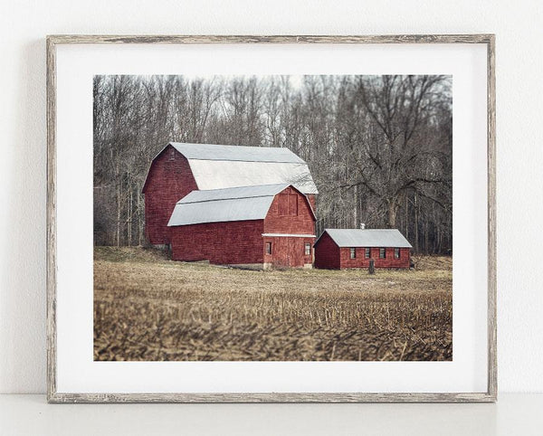Lisa Russo Fine Art Farmhouse and Rustic Decor Three Red Barns