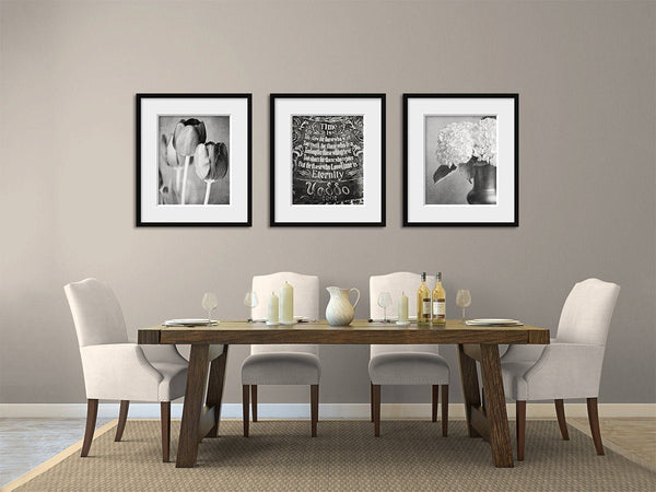 Lisa Russo Fine Art Farmhouse and Rustic Decor Time Is Trio in Black & White • Set of 3