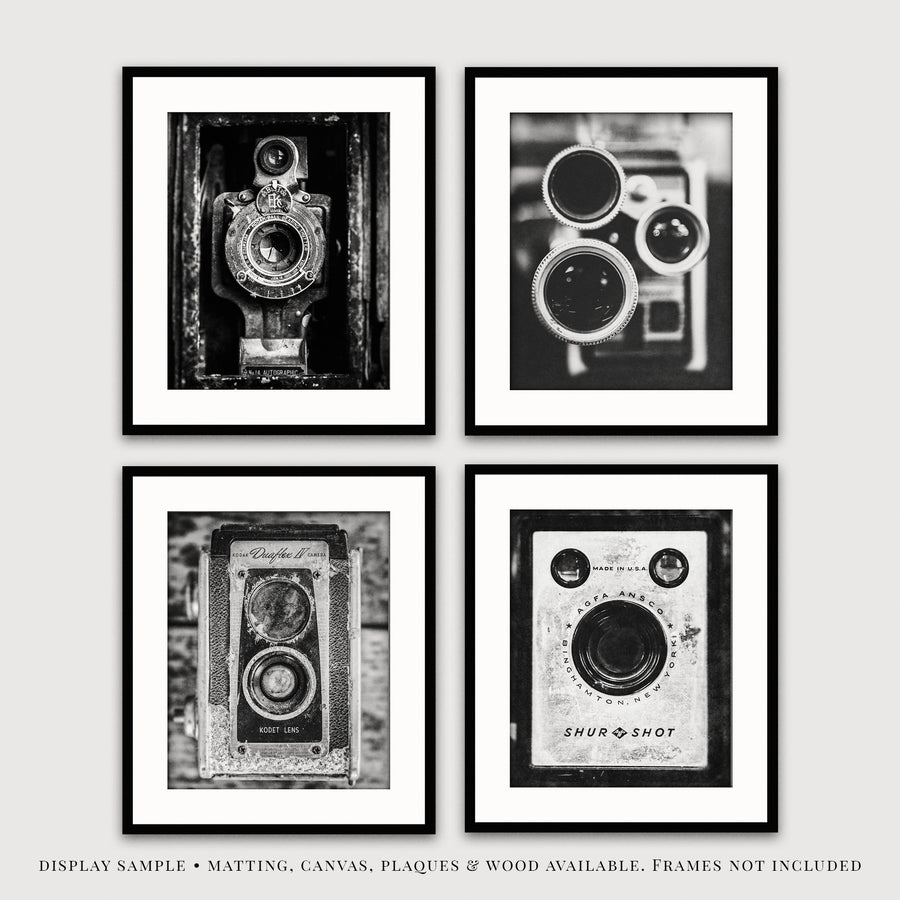 Lisa Russo Fine Art Farmhouse and Rustic Decor Vintage Cameras • Set of 4