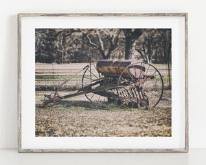 Lisa Russo Fine Art Farmhouse and Rustic Decor Vintage Hay Rake <br>Rustic Home Decor