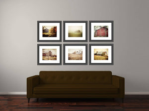 Lisa Russo Fine Art Farmhouse and Rustic Decor Warm Country Landscapes • Set of 6