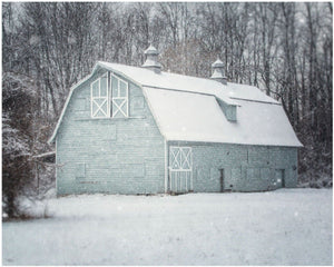 Lisa Russo Fine Art Farmhouse and Rustic Decor Winter Barn