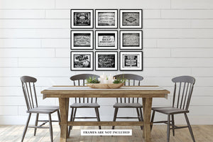 Lisa Russo Fine Art Kitchen Decor Mercantile Crates in Black & White • Set of 9