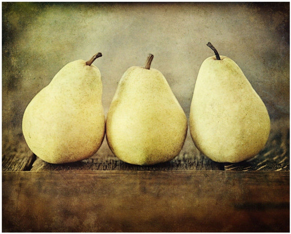 Lisa Russo Fine Art Kitchen Decor Pear Trio