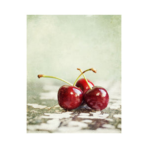 Lisa Russo Fine Art Kitchen Decor Ripe Cherries <br>French Country Kitchen Art