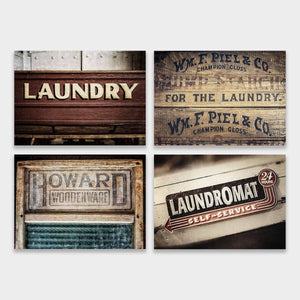 Lisa Russo Fine Art Laundry Room Decor Laundry Signs • Set of 4