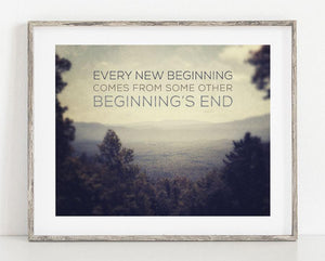 Lisa Russo Fine Art Nature Photography Every New Beginning <br>Inspirational Quotation Art