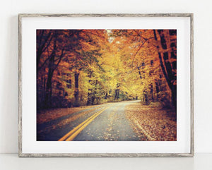 Lisa Russo Fine Art Nature Photography Fall Drive <br>Presque Isle Pennsylvania