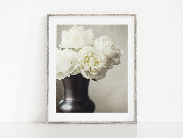 Lisa Russo Fine Art Nature Photography Ivory Peonies <br>Floral Wall Art Photography