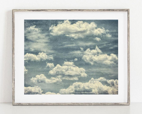 Lisa Russo Fine Art Nature Photography Renaissance Clouds <br>Blue Abstract Wall Decor
