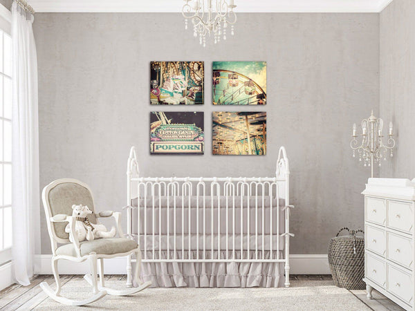 Lisa Russo Fine Art Nursery Room Art Colorful Carnival • Set of 4