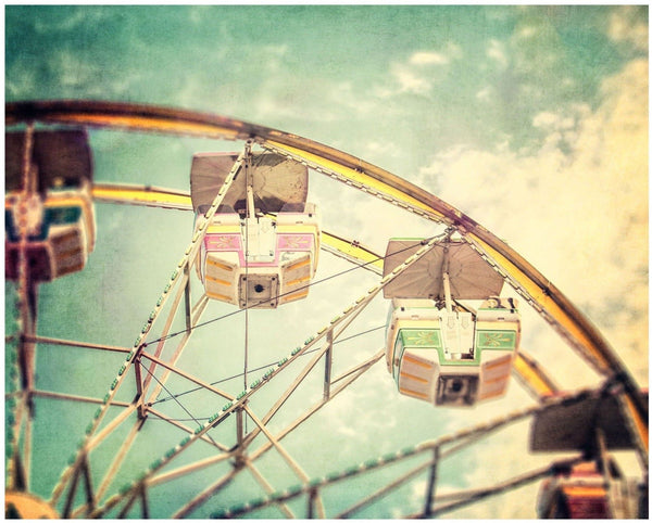 Lisa Russo Fine Art Nursery Room Art Colorful Ferris Wheel