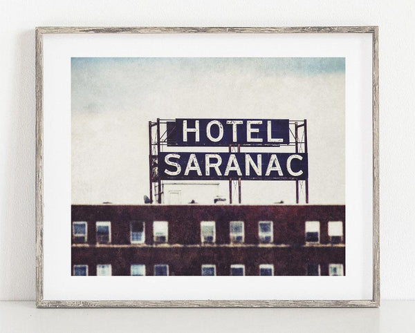 Lisa Russo Fine Art Rustic Home Decor Hotel Saranac <br>Industrial Home Decor