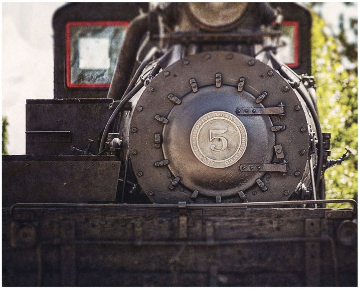 Lisa Russo Fine Art Rustic Home Decor Locomotive Shay No. 5