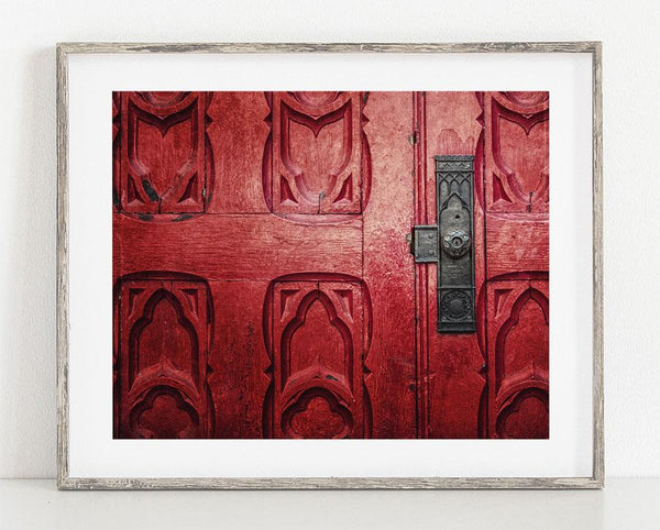 Red Pittsburgh Church Door <br>Rustic Home Decor