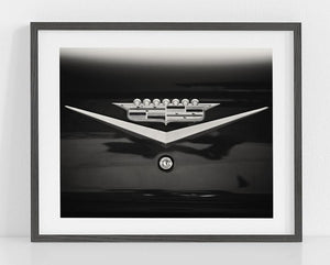 Lisa Russo Fine Art Rustic Home Decor The Cadillac Crown <br>Black and White Car Photography