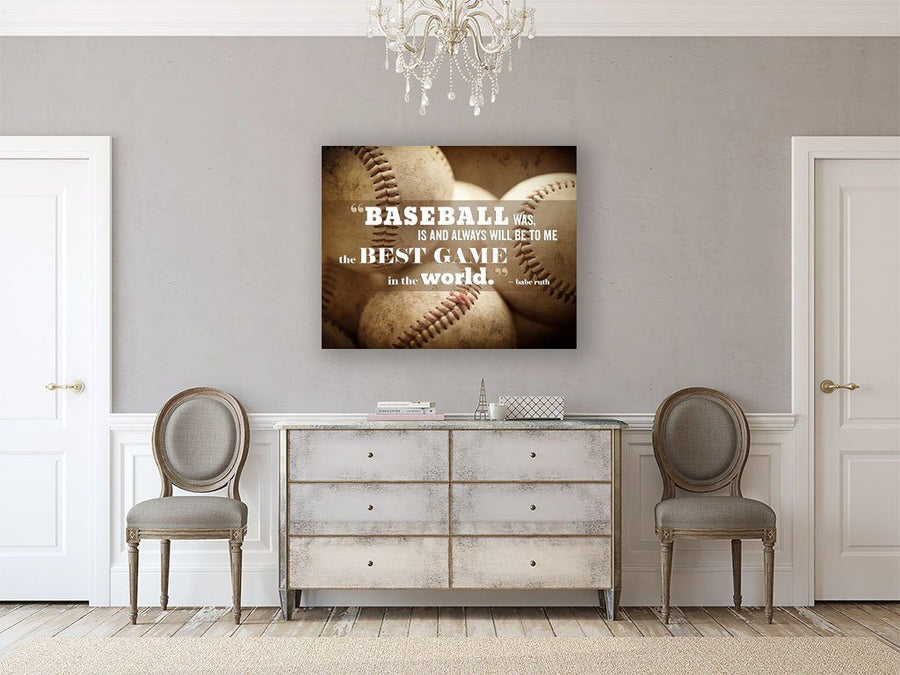 Lisa Russo Fine Art Sports Decor Baseball Is...the Best Game