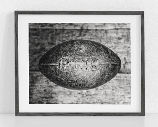 Lisa Russo Fine Art Sports Decor College Football <br>Black and White Football Art