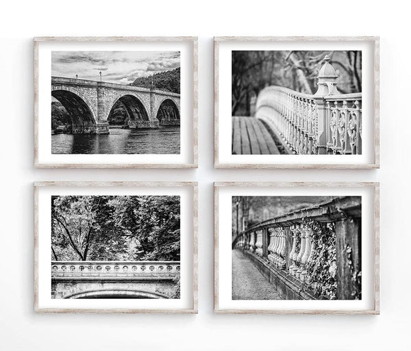 Lisa Russo Fine Art Travel Photography Elegant City Set of 4<br>Black and White Photography