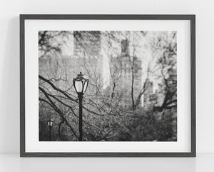 Lisa Russo Fine Art Travel Photography Lamps of the Upper East Side <br>Black and White New York City Skyline