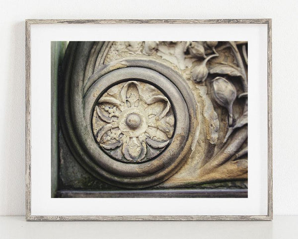 Lisa Russo Fine Art Travel Photography Stone Medallion <br>New York City Photography