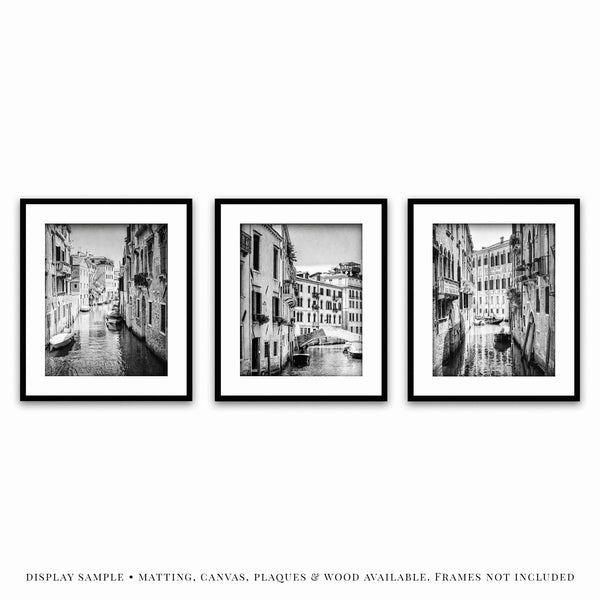 Lisa Russo Fine Art Travel Photography Venice Canals • Set of 3