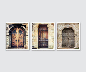 Lisa Russo Fine Art Travel Photography Worldly Doors • Set of 3
