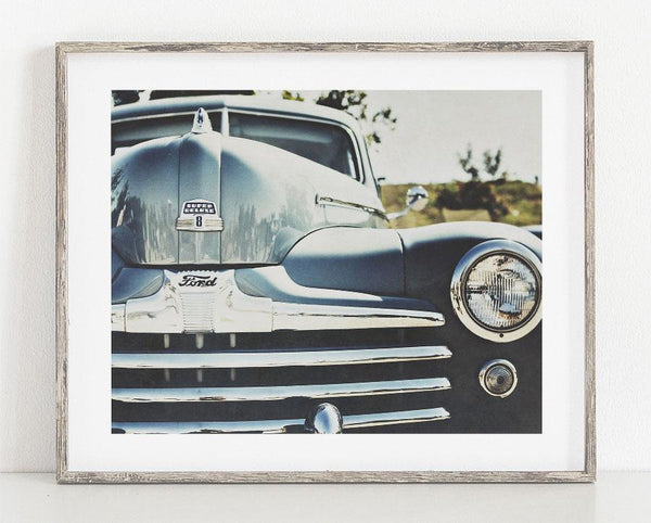 Lisa Russo Fine Art Vintage Car Photography 1948 Ford Super Deluxe <br>Retro Ford Car Photography