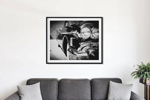 Lisa Russo Fine Art Vintage Car Photography Black & White 1950s Cadillac