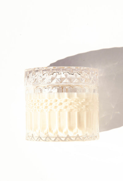 Large Vintage Crystal Candle