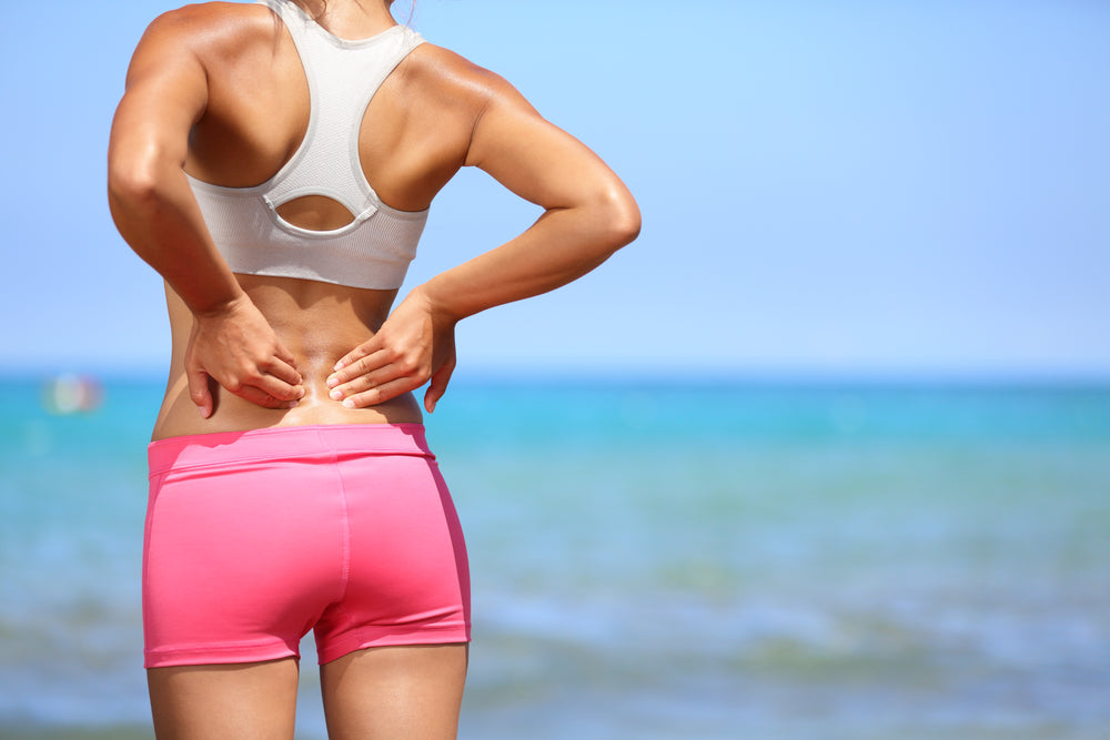 athlete has lower back pain
