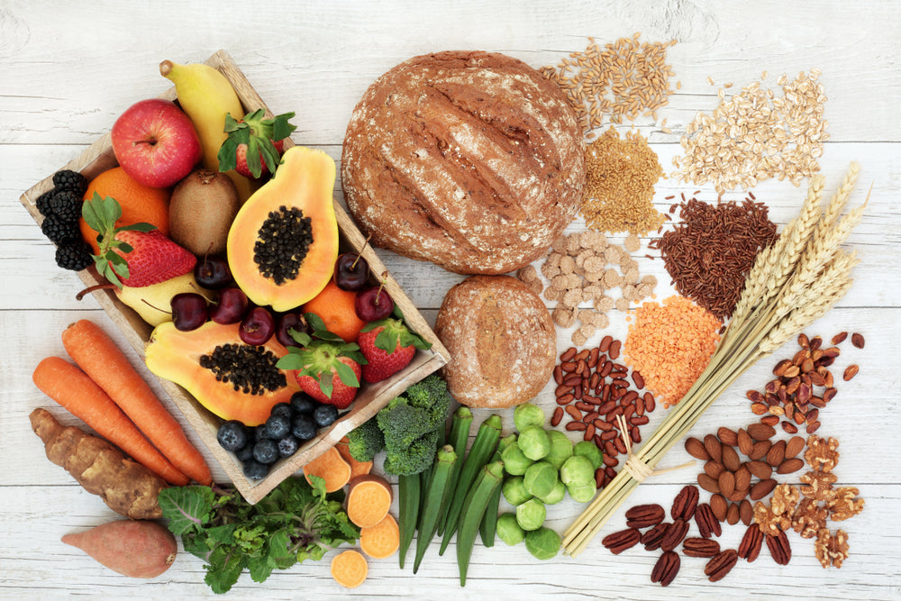 fruits and whole grains