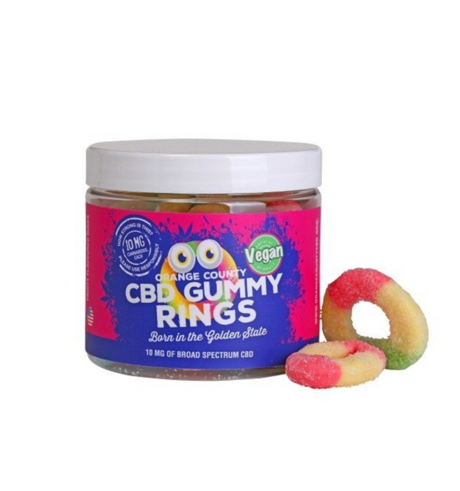 Orange County Small CBD Gummy Rings