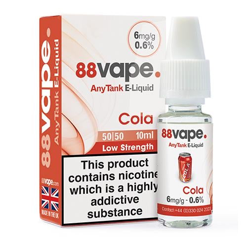 88Vape Red Cola 10ml E-Liquid